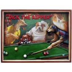 Бильярдное панно с собаками Джек Потрошитель