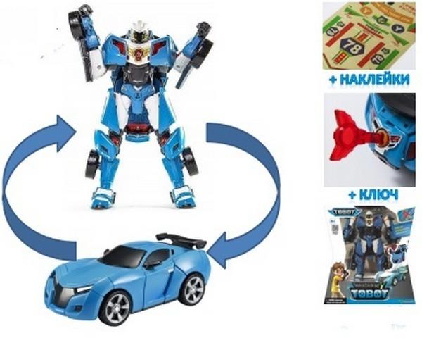 Игрушка-трансформер с наклейками и ключом-токеном