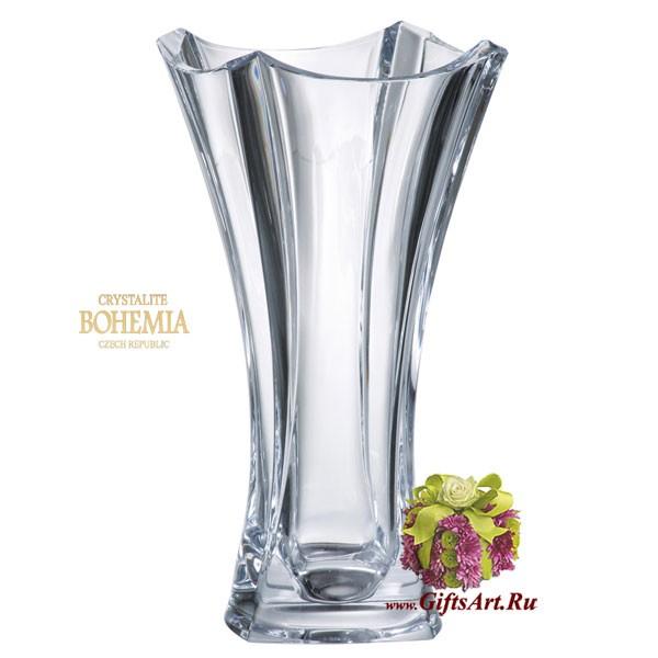 Ваза для цветов Богемское стекло Crystalite Bohemia