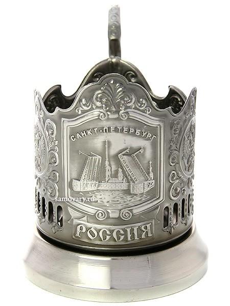 Никелированный подстаканник Санкт-Петербург (Кольчугино)