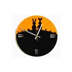 Настенные часы Любовь-морковь