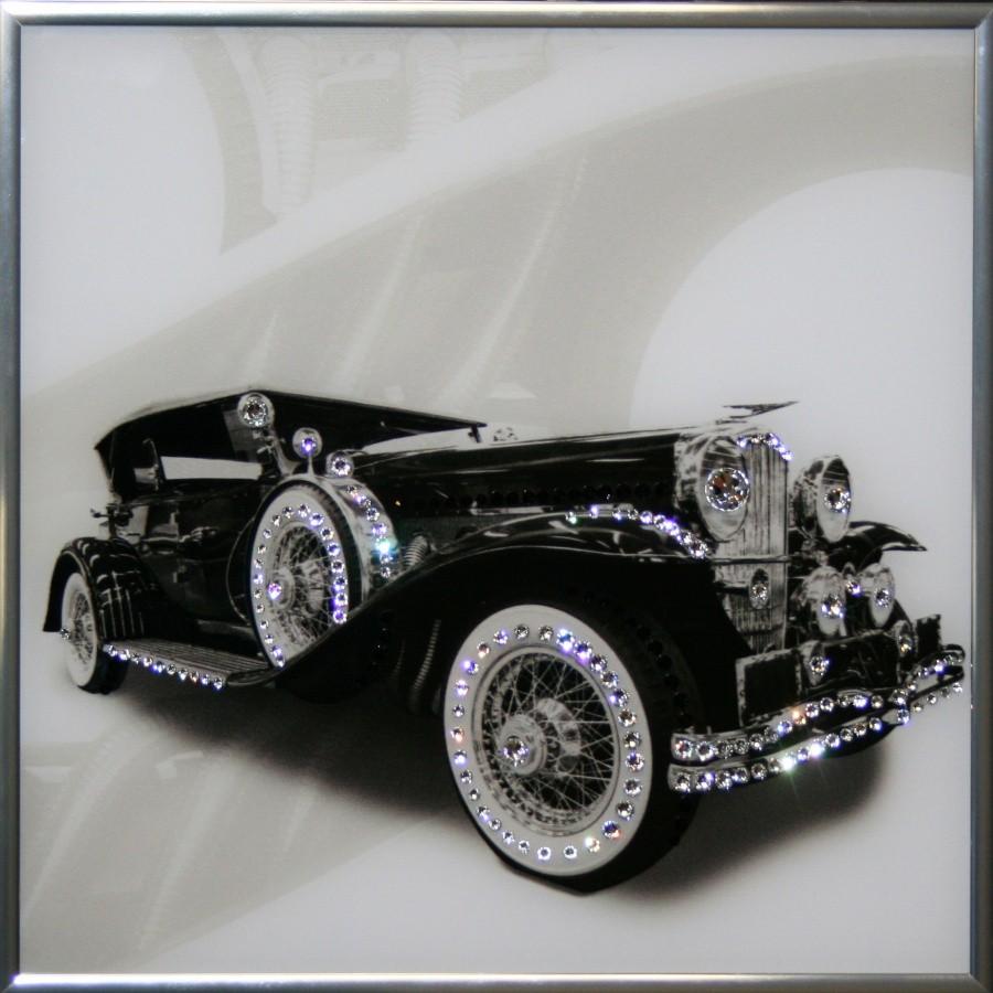 Картина с кристаллами Сваровски Ретро авто