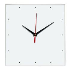 Белые настенные квадратные часы без цифр