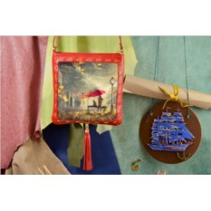 Красная сумка-планшет Осеннее настроение Elole Design