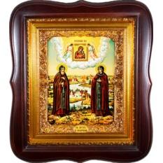 Петр и Феврония Муромские. Икона на холсте
