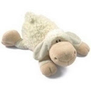 Игрушка мягкая «Овечка белая лежащая»