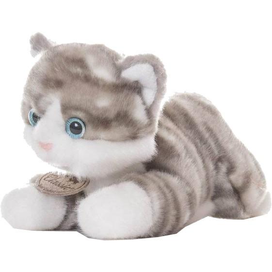 Мягкая игрушка Aurora Котенок серый