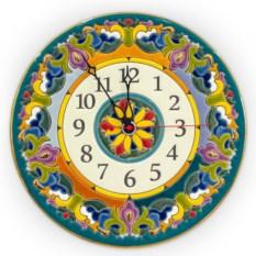 Настенные керамические часы ручной работы