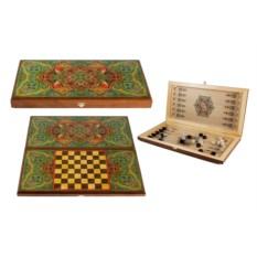 Игра Восточный ковер: нарды, шашки, размер 40х20 см