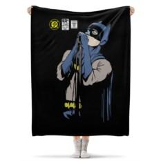 Флисовый плед 130х170 см Бэтмен и Кёртис