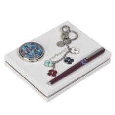 Набор: ручка роллер, брелок, зеркало Cacharel