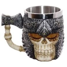 Пивная кружка Череп в шлеме