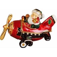 Шкатулка Дед Мороз на самолете