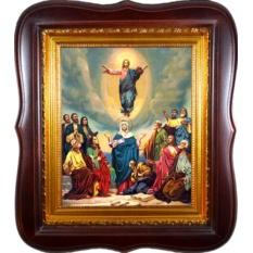 Вознесение Господне. Икона на холсте.