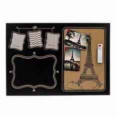 Доска-мемо с фото, мелками и кнопками Парижские истории