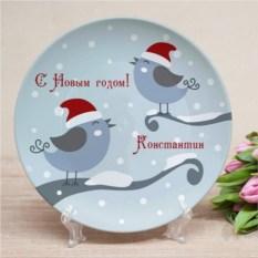 Именная тарелка Синицы
