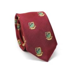 Узкий галстук (бордовый с гербом)
