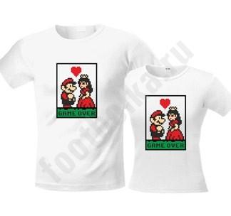 Свадебные футболки Game over Марио