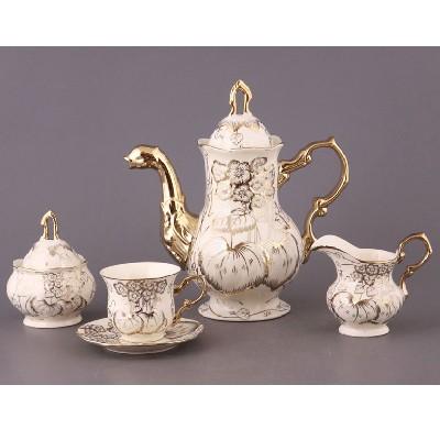 Чайный сервиз на 6 персон Гибискус. Узоры