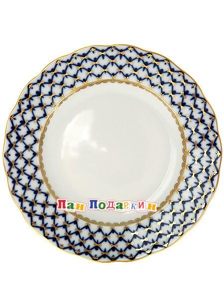 Мелкая тарелка Кобальтовая сетка