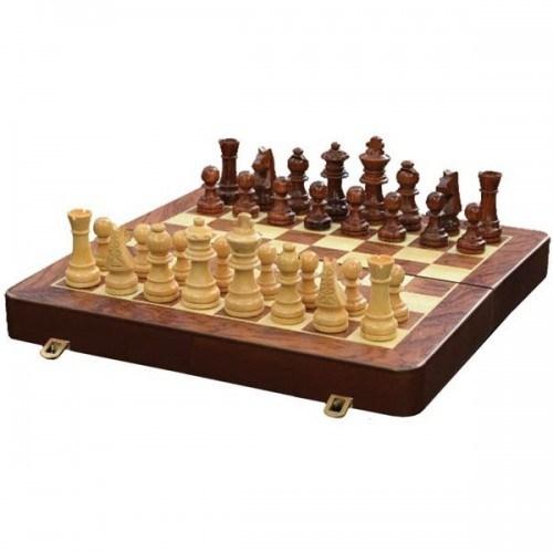 Шахматы Классика (деревянный кейс (30х15 см) ручной работы)