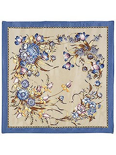 Шелковый платок (атлас) Мерцание, 89х89 см