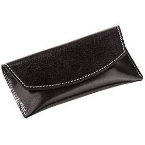 Футляр для визиток кожаный, черный