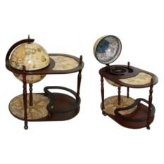 Напольный глобус-бар со столиком Сокровища древнего мира