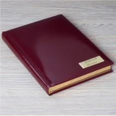 Лаковый кожаный ежедневник с гравировкой