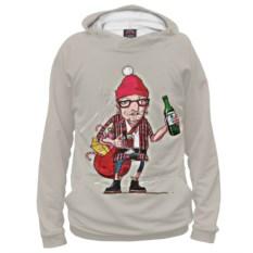 Женское худи Hipster Santa