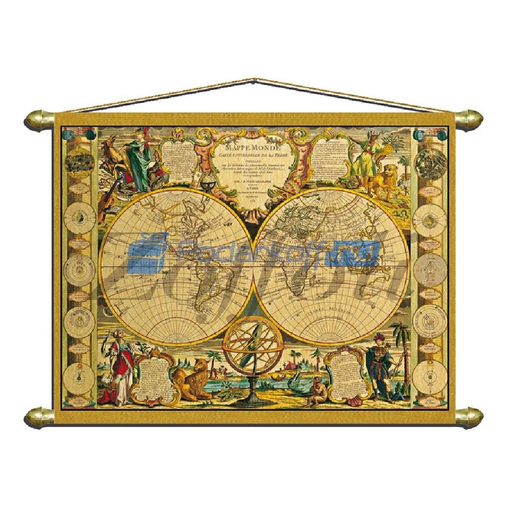 Панно (репродукция старинной карты)