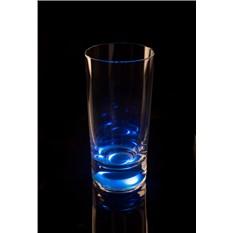Бокал (Longdrink), загорающийся от прикосновения руки, синий