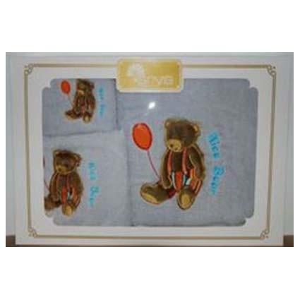 Набор полотенец с вышивкой NICE BEAR GREY
