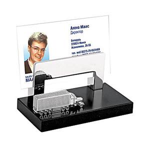 Подставка под визитки с фурой