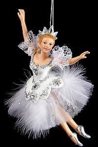 Елочное украшение Балерина-Снежная Королева
