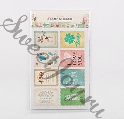 Набор наклеек Ancien Stamp Sticker Happiness