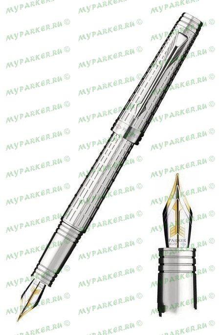 Перьевая ручка Parker Premier Deluxe Graduated Chiselling