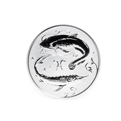 Серебряная монета «Рыбы»