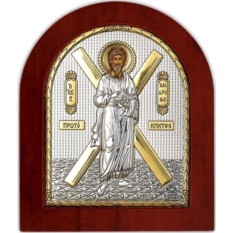 Серебряная икона Андрей Первозванный. Святой Апостол