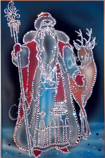 Картина из кристаллов Swarovski Морозко (большая)