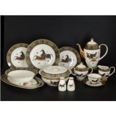 Столово-чайный сервиз Лошади на 6 персон 42 предмета