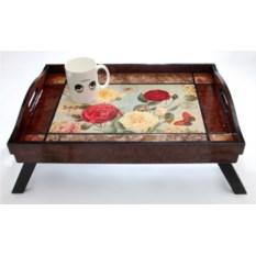 Столик-поднос для завтрака в постель Розы