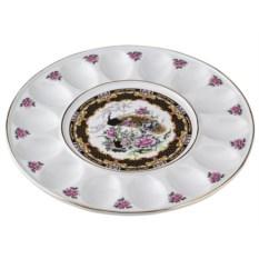 Фарфоровая тарелка для яиц Павлин Porcelain Manufacturing
