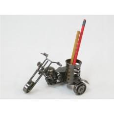 Металлическая карандашница  Мотоцикл.