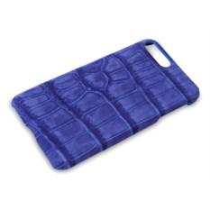Синий чехол из кожи крокодила на Iphone 7 plus