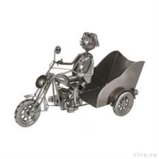 Держатель для бутылок «Ретро — Мотоциклист»
