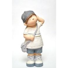 Садовая декоративная фигура Мальчик с сумкой