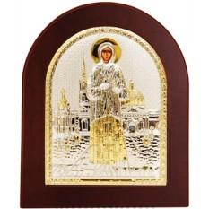 Икона в серебряном окладе Ксения Петербуржская