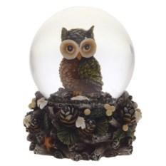 Декоративная фигурка в стеклянном шаре Сова