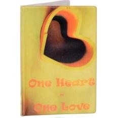 Обложка на паспорт Одно сердце - одна любовь